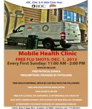 Free Flue Shots at Shifa/ ICNA Relief Mobile Health Clinic